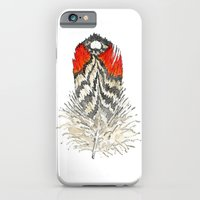 iPhone & iPod Case featuring Red Feather - 03 by TheColorK