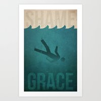 Shame to Grace Art Print