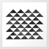 Rows of Triangles Art Print