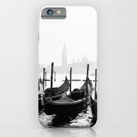 Venetian Gondolas Black and White iPhone 6 Slim Case