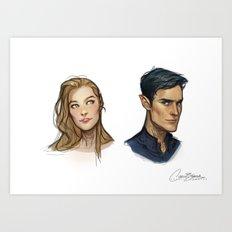 Rhys & Feyre Art Print