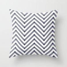Chevron pattern - dark blue on white Throw Pillow