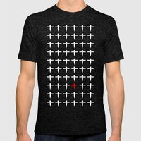 Spirited Away Paper Mens Fitted Tee Tri-Black SMALL