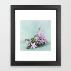 Happy little things  Framed Art Print