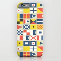 Geometric Nautical flag and pennant iPhone 6 Slim Case