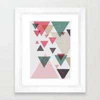 Triângulos ligados Framed Art Print
