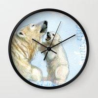 Polar bears A0086 Wall Clock