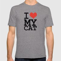 I Love My Cat Mens Fitted Tee Tri-Grey SMALL