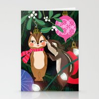 Chipmunk Kisses Holiday … Stationery Cards