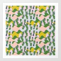Whimsical Mountains Art Print