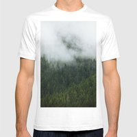Tree Fog Mens Fitted Tee White SMALL