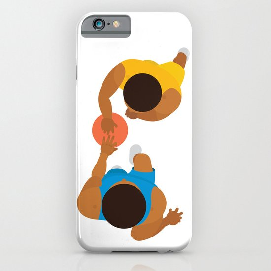 Basketball / Geometrical portrait of the LA Laker vs the New York Knicks iPhone & iPod Case