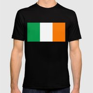 Irish National Flag - Fl… Mens Fitted Tee Black SMALL