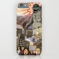 iPhone & iPod Case featuring Godzilla!!! by Adam Doyle