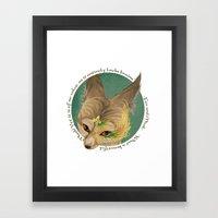 Fox And Mask  Framed Art Print