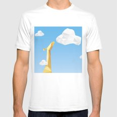 Into the cloud SMALL White Mens Fitted Tee