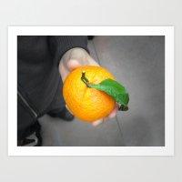 california orange Art Print