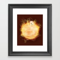 Lost in a Space / Sunlion Framed Art Print