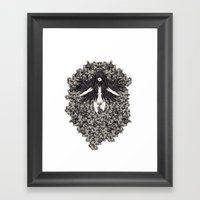 A Lady And Her Skulls (P… Framed Art Print