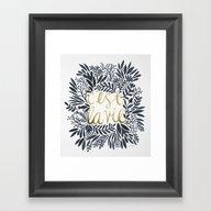 C'est La Vie – Grey & … Framed Art Print