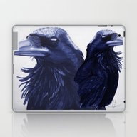 Laptop & iPad Skin featuring .Raven by Isaiah K. Stephens