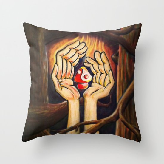 The Fruit of Duality Throw Pillow