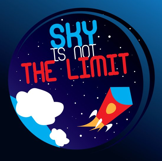 Sky is not the limit Art Print