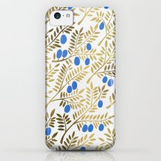 Olive Branches – Gold & Blue iPhone 5c Slim Case