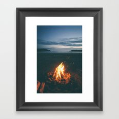 Beach Fire Framed Art Print