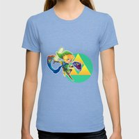 Link - The hero of light Womens Fitted Tee Tri-Blue SMALL