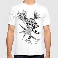 Tenacious Bird Mens Fitted Tee White SMALL