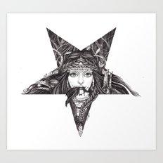 Lady of the Dark Star. Art Print