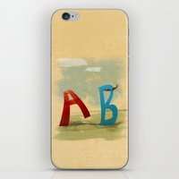 B, You Can't Catch Me! iPhone & iPod Skin