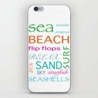 Beach Typography iPhone & iPod Skin