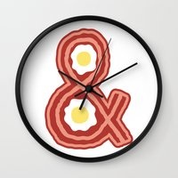 Bacon & Eggs Wall Clock