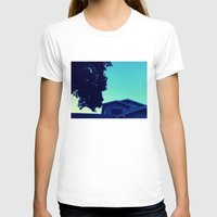 Late One Summer Evening Womens Fitted Tee White SMALL