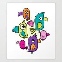 Le Tweet Art Print