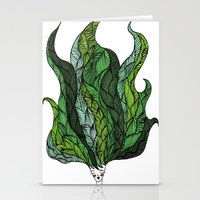 Leaf Head I Stationery Cards
