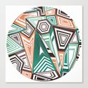 Funky in the Middle Canvas Print