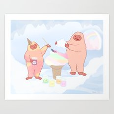 Herbert Sherbert and Rainbow Sherbert  Art Print