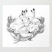Yule Card Design  Art Print