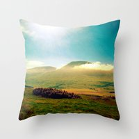 Morning Clouds In Scotla… Throw Pillow
