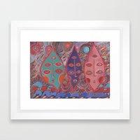 Popping Drops Framed Art Print