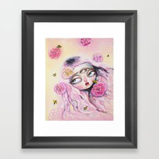 THE CONGREGATION OF THE BEES AND THE FLOWERS Framed Art Print