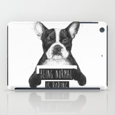 Being normal is boring iPad Case