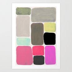 colour + pattern Art Print