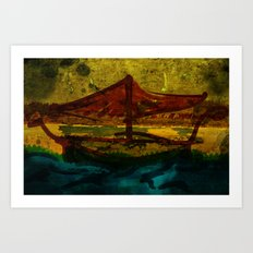 An ancient ship Art Print