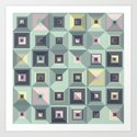 Lost in Squares III Art Print