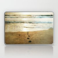 Tracks Into the Sea Laptop & iPad Skin