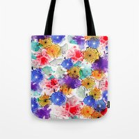 Printed Silk Exotic Garden Tote Bag